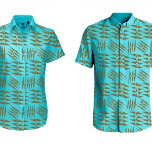 Hanualei2 Hand Printed Shirts Available in Sizes Extra Small to 8XL Linen Shirts, soft delicate and durable