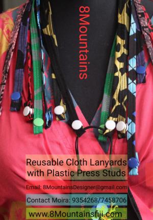 Reusable cloth lanyards